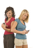 Teens Text Messaging Revised Stock Photo