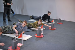 Teens to compete in rifle shooting Stock Photography