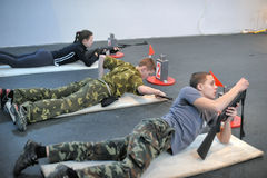 Teens to compete in rifle shooting Royalty Free Stock Images