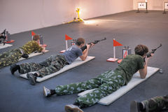 Teens to compete in rifle shooting Stock Photo