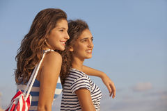 Teens on vacation Stock Images