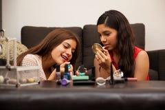 Free Teens Wearing Makeup At Home Stock Photos - 43321583