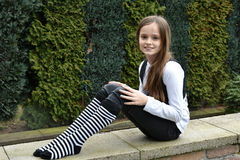 Teeny with striped socks Royalty Free Stock Photos