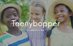 Teenybopper Young Children Youth Kids Concept Stock Image