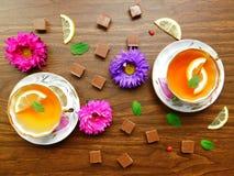 Teeparty für zwei Stockbild