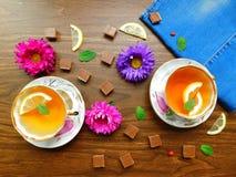 Teeparty für zwei Lizenzfreie Stockbilder