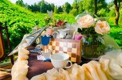 Teeparty im Park lizenzfreies stockbild