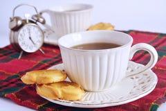 Teeparty mit Plätzchen Lizenzfreie Stockfotos