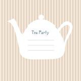Teepartyeinladung lizenzfreie abbildung