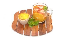 Teepause, Fruchttee Lizenzfreies Stockfoto