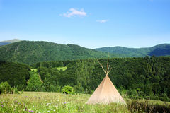 Teepee. In the Carpathian Mountains Royalty Free Stock Photography