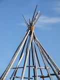 Teepee. Wigwam construction frame in Norway. Saami culture Royalty Free Stock Photo
