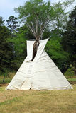 Teepee. Native American Teepee on the edge of a meadow royalty free stock photography