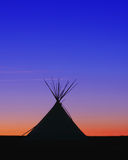 Teepee. Shelter for the plains indians, of north america royalty free stock image
