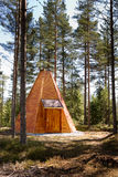 Teepee Cabin in Forest Royalty Free Stock Photos