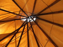 Teepee Ceiling- through the roof royalty free stock photos
