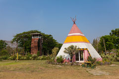A teepee, conical tent Royalty Free Stock Photo