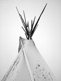 Teepee covered in snow. Teepee after a winter blizzard in the Plains Royalty Free Stock Photos