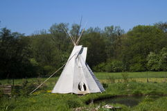 Teepee. Indian teepee on Czech garden Royalty Free Stock Photography