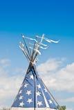 Teepee indiano nel vento Fotografia Stock Libera da Diritti