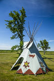 TeePee on Manitoulin. One of the few teepees at Ten-Mile Point on Manitoulin Island royalty free stock photo