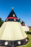 Teepee. Modern Teepee at a Campingsite Stock Images