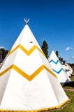 Teepee. Modern Teepee at a Campingsite Royalty Free Stock Images
