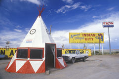 Teepee-shaped building Stock Image