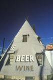 Teepee-shaped liquor store Royalty Free Stock Image