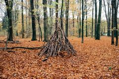 Teepee shelter Royalty Free Stock Image