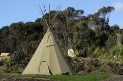 Teepee Tepee Tipi - американский индийский шатер Стоковые Изображения