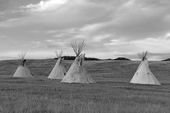 Teepee (tipi) όπως χρησιμοποιείται από τους μεγάλους αμερικανούς ιθαγενείς πεδιάδων Στοκ Εικόνες