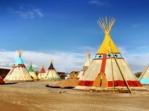 Teepee, wigwam, Indiańscy namioty Obrazy Royalty Free