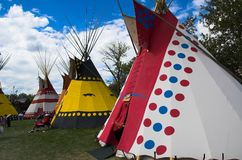 Teepees Stock Photo