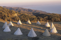 Teepees in a circle Royalty Free Stock Image