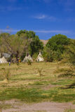 Teepees in Death Valley Nation Park, California Royalty Free Stock Photos