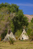 Teepees in Death Valley Nation Park, California Stock Images