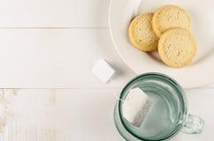 Teeplätzchen schließen oben Lizenzfreie Stockfotos