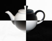 Teepot. Photo of a brewing teapot with application of effect of a negative Royalty Free Stock Images