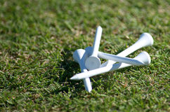 Tees de golf Photographie stock libre de droits