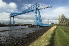 Tees Transporter bridge. The Tees Transporter Bridge was opened in 1911. There are only two other Transporter Bridges still in existence in Britain. Located Royalty Free Stock Images