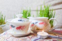 Teesachen Stockfoto