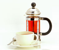 Teesatz, Teekanne und Schale Lizenzfreies Stockbild
