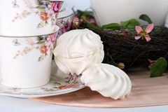 Teesatz und Eibische Lizenzfreies Stockbild