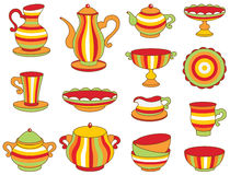 Teesatz (Vektorillustration) Lizenzfreies Stockfoto