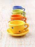 Teeschalen stockfoto
