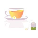 Teeschalenikonen Stockfoto