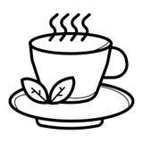 Teeschalenvektor stock abbildung