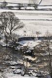 Teesdale冬天场面,北英国 免版税图库摄影