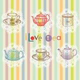 Teeset Stockbild
